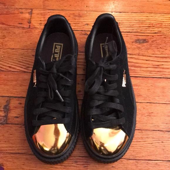 Women's Suede Platform Gold Tip sneakers